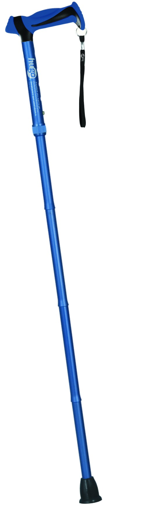 Adjustable Folding Cane with Reflective Strap