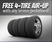 Free 4-tire air-up with any service performed!