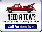 We offer 24/7 towing service.