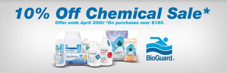 10% Off Chemical Sale: This offer is valid on purchases over $150 and ends April 30th. Contact us for details.