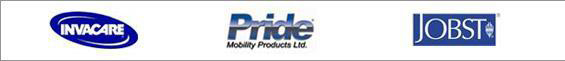 We proudly carry products from Invacare, Pride, and Jobst.