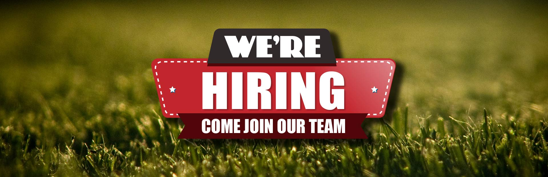 Now Hiring: Come join our team! Contact us for details.