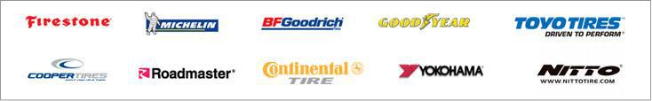 We proudly offer products from: Michelin®, BFGoodrich®, Firestone, Goodyear, Cooper, Continental, Yokohama, Roadmaster, Toyo, and Nitto.