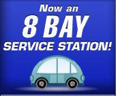Now an 8 Bay Service Station!