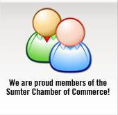 We are proud members of the Sumter Chamber of Commerce!