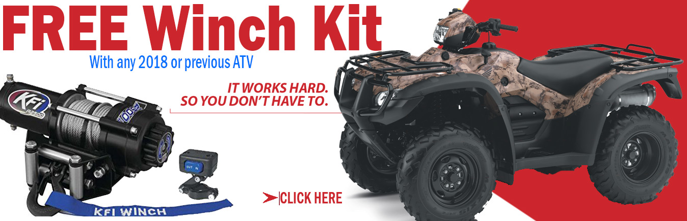 Free Winch with ATV- Honda powerhouse virginia