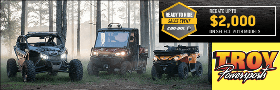 CanAm is offering up to $2,000 off select 2018 models now thru 7/5/18