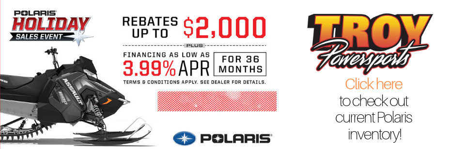 Polaris Snow Holiday Sales Event