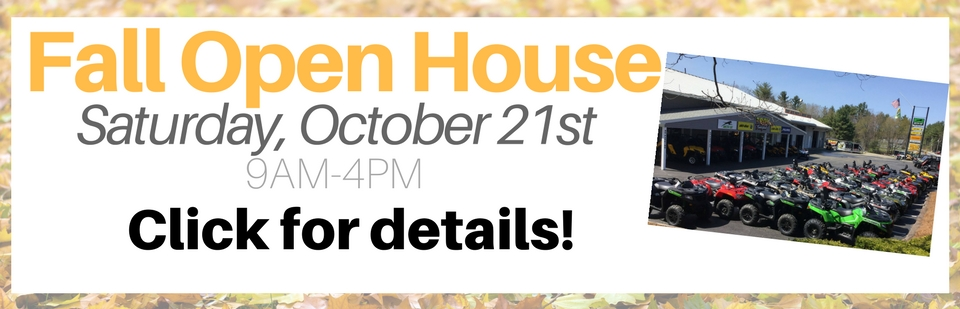 Fall Open House -- Saturday, October 21st 9AM-4PM