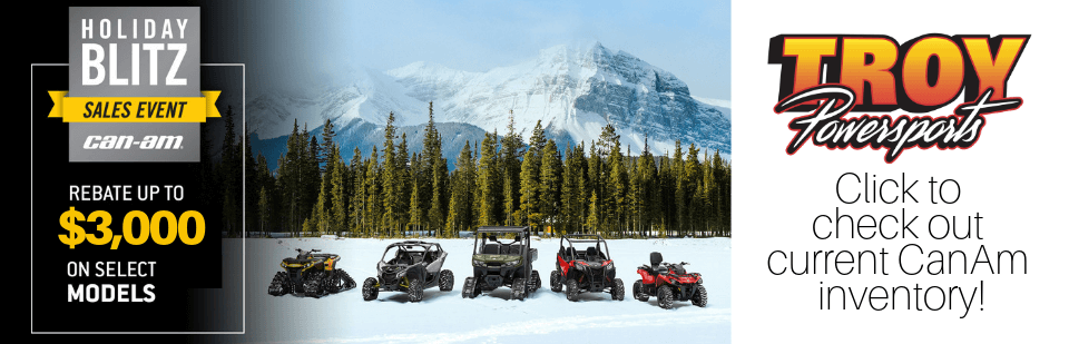 Save up to $3,000 and financing as low as 0.9% with CanAm
