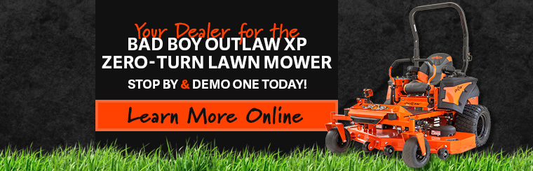 Shop The Bad Boy Outlaw XP Zero-Turn Mower at Rathbone Sales in Washington.Your Bad Boy Mower Dealer in Tri-Cities, WA
