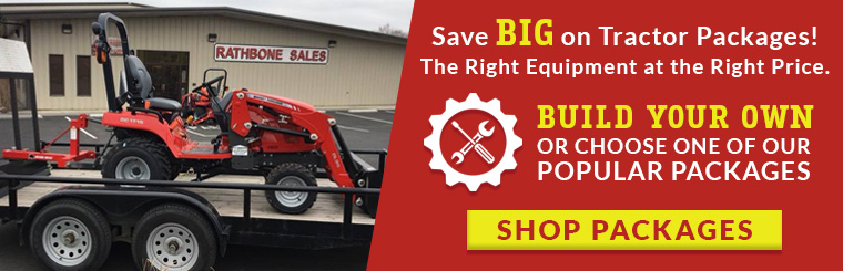 Shop Tractor Package Deals at Rathbone - largest Massey Ferguson Dealer in the Tri-Cities!