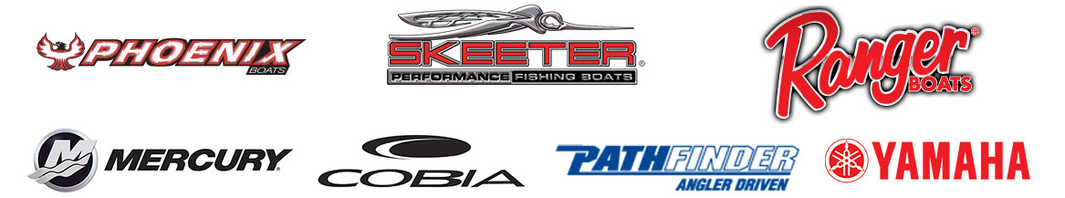 mercury, skeeter, ranger, cobia, pathfinder, phoenix, and yamaha