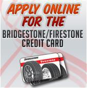 Apply online for the Bridgestone/Firestone Credit Card.