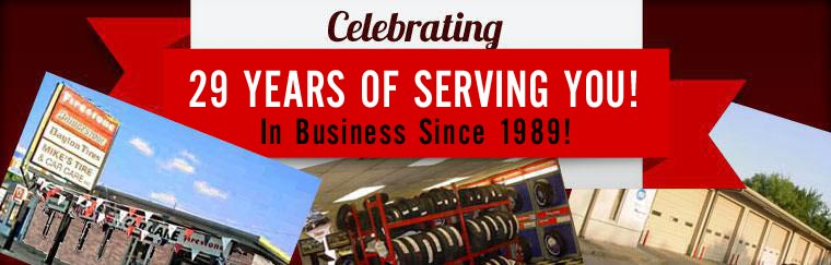 We are celebrating 29 years of serving you!