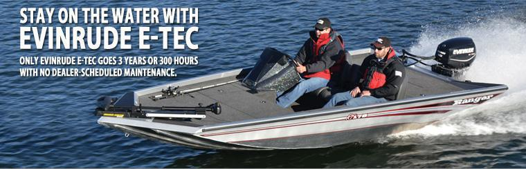 Stay on the water with Evinrude E-Tec.