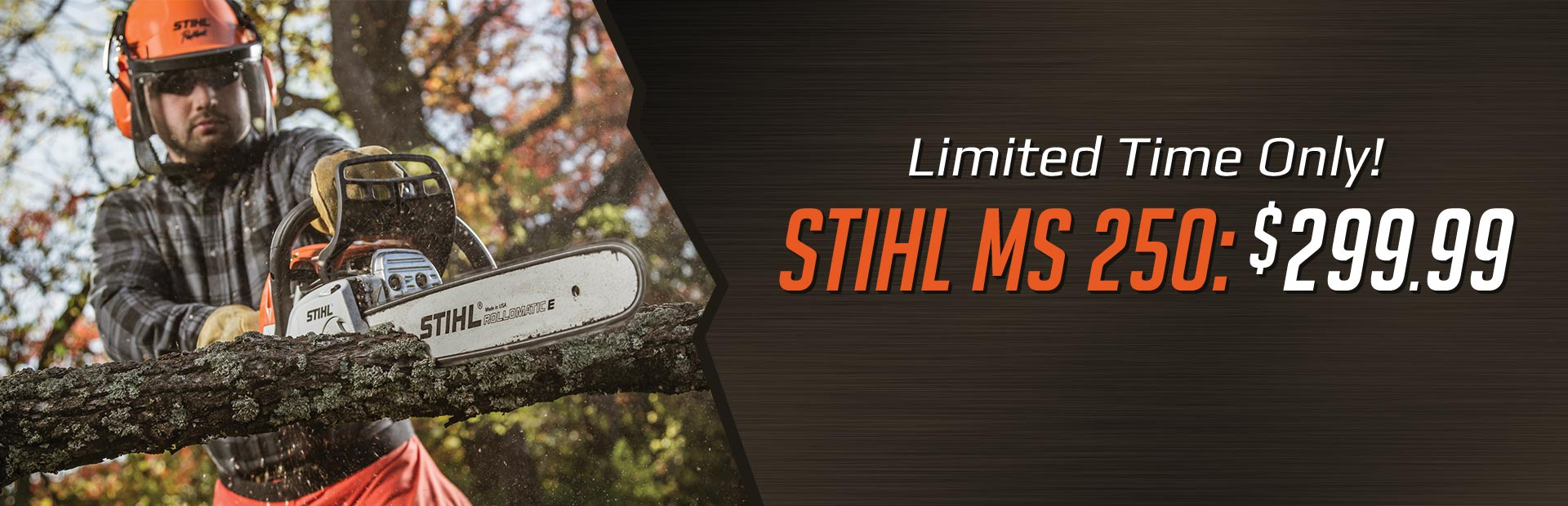 Get the STIHL MS 250 for $299.99 for a limited time only!