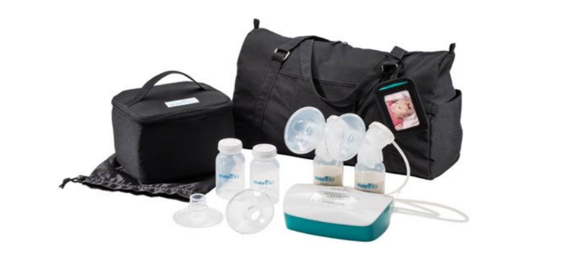 A Evenflo Deluxe Advanced Breast Pump