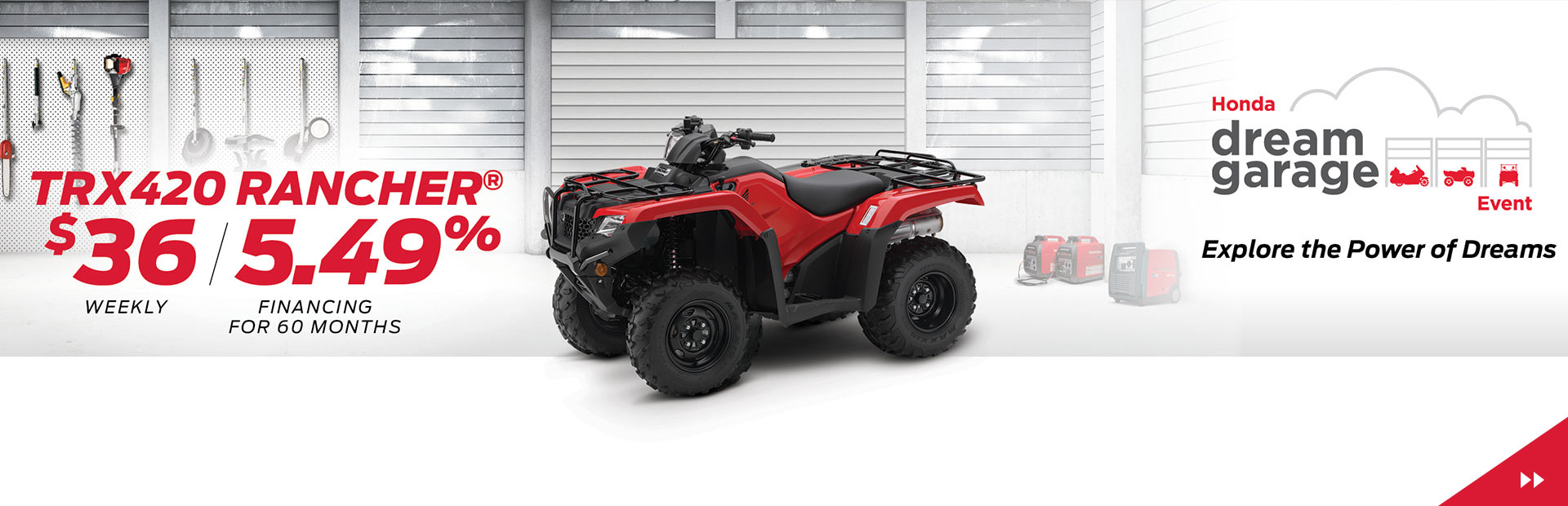 Get the TRX420 Rancher for $36 weekly with 5.49% Financing for 60 months!