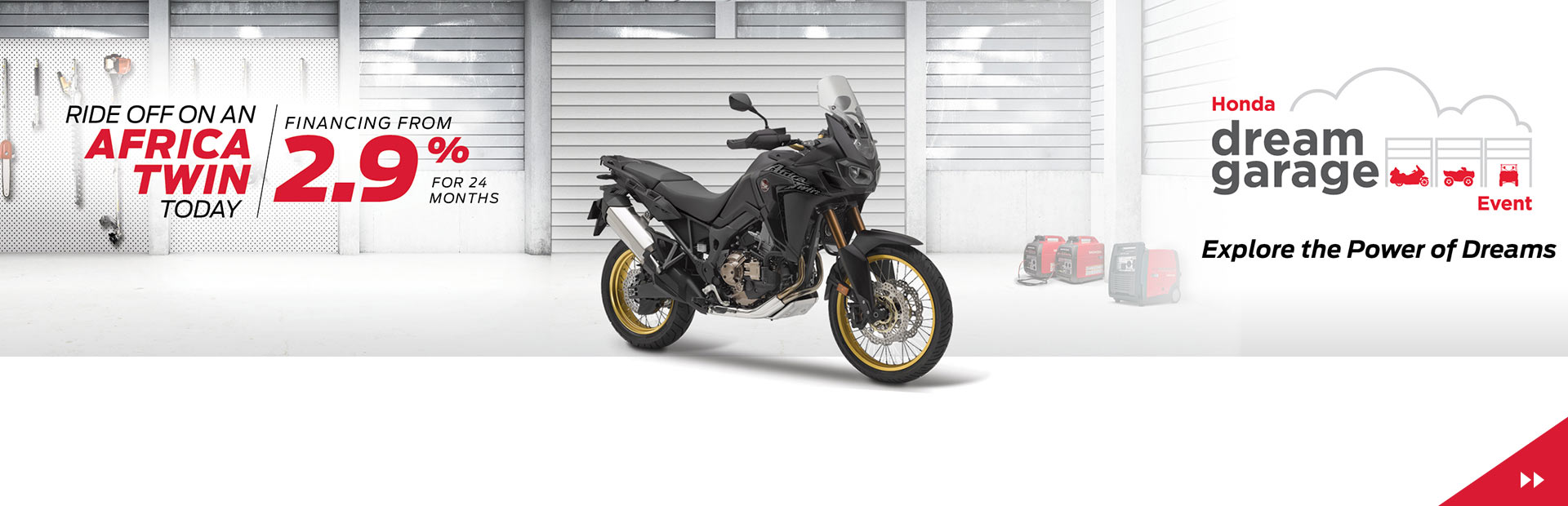 Ride Off on an Africa Twin Today with Financing from 2.9% for 24 months