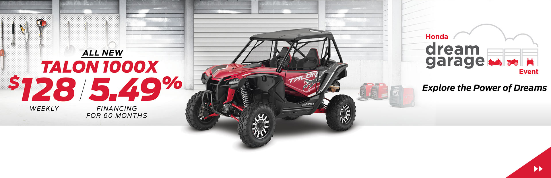 Get the All New Talon 1000X for $128 weekly with 5.49% Financing for 60 months