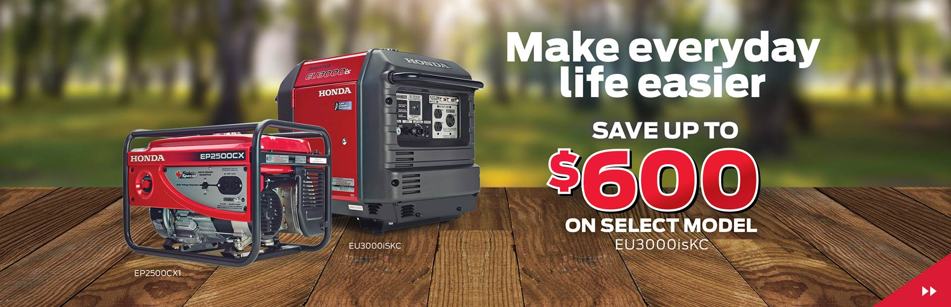 Make everyday life easier! Save Up To $600 on the EU3000isKC
