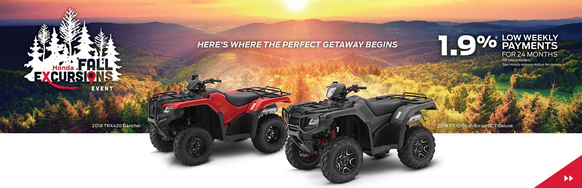 Honda Fall Excursions Event   Financing From 1.9% Oac For 24 Months!