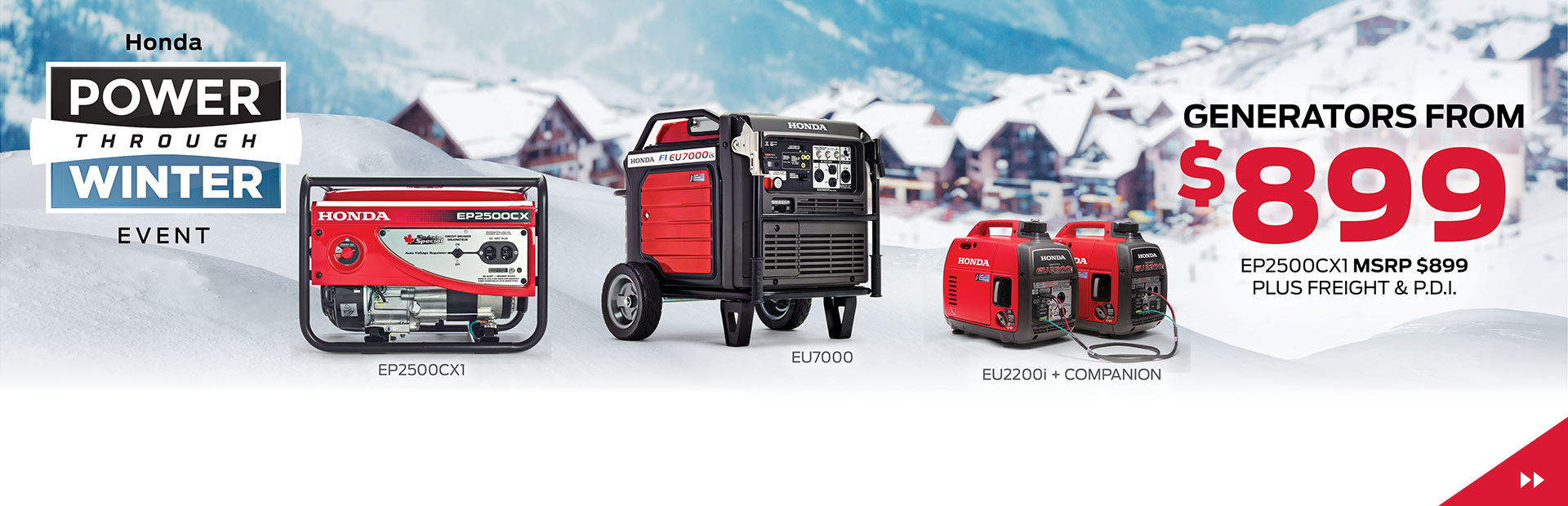 Honda Power Through Winter Event - Generators from $899!