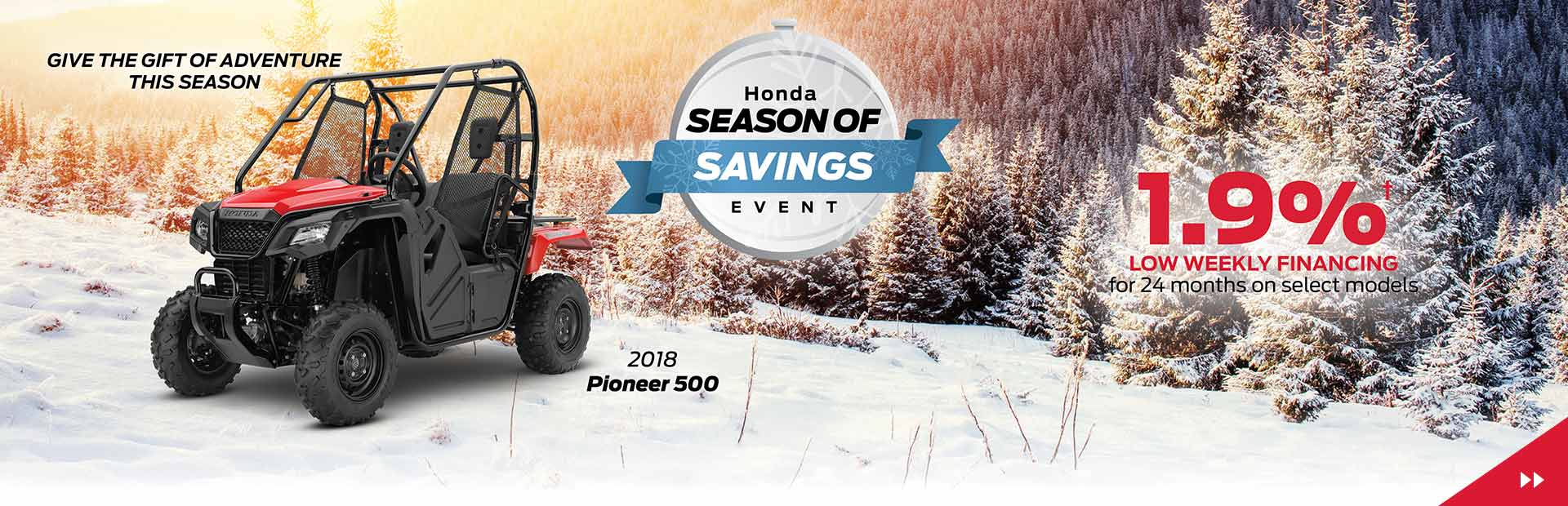 Honda Season of Savings -  Financing from 1.9% oac for 24 months!