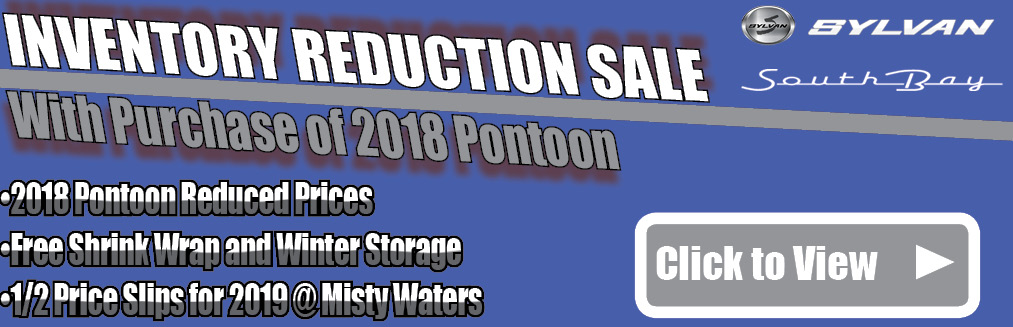 Pontoon Inventory Reduction Sale