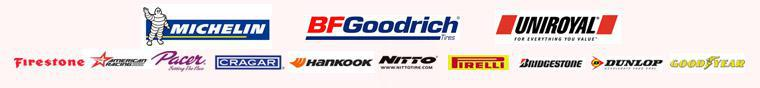 We proudly carry products form Michelin®, BFGoodrich®, Uniroyal®, Firestone, American Racing, Pacer, Cragar, Hankook, Nitto, Pirelli, Bridgestone, Dunlop and Goodyear.