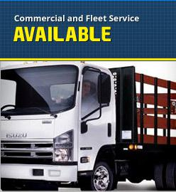Commercial and Fleet Service Available
