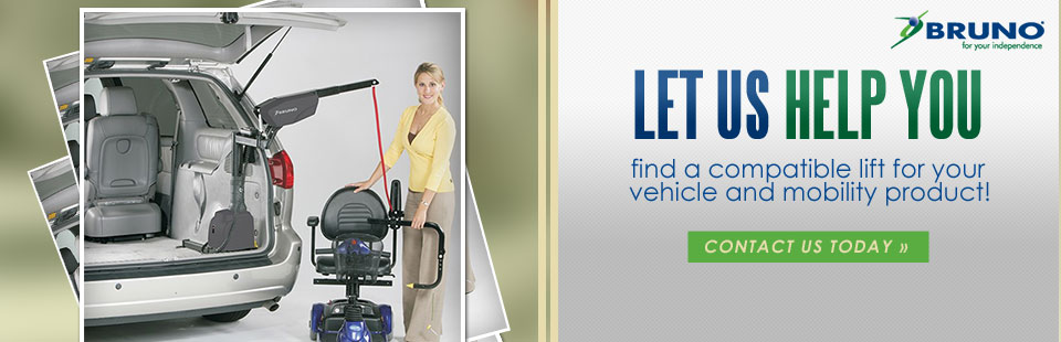 Let us help you find a compatible lift for your vehicle and mobility product! Contact us today.