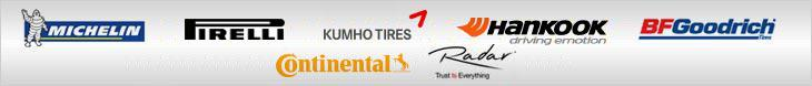 We carry products from Michelin®, Pirelli, Kumho, Hankook, BFGoodrich®, Continental, and Radar.