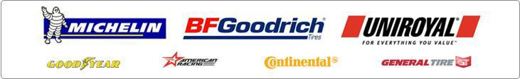 We carry products from Michelin®, BFGoodrich®, Uniroyal®, Goodyear, American Racing, Continental, and General Tire.