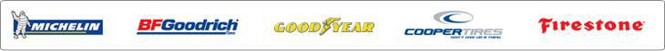 We carry great products from Michelin®, BFGoodrich®, Goodyear, Cooper, and Firestone.