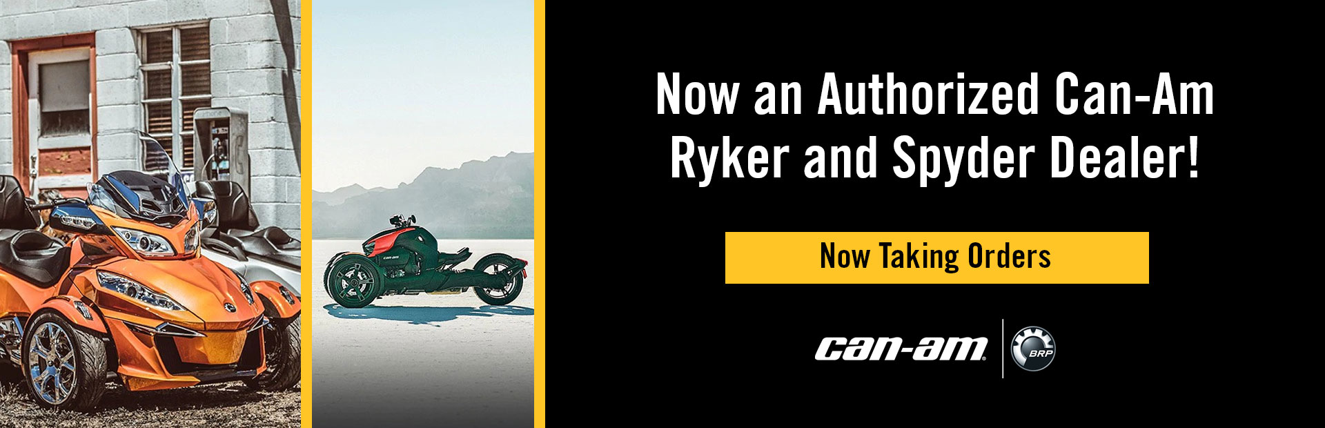 Authorized Can-Am Ryker and Spyder dealer! Click here to check out the latest selection!