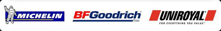 We proudly carry products from Michelin®, BFGoodrich®, and Uniroyal®.
