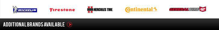 We carry Michelin®, Firestone, Hercules, Continetal, and General. Additional brands available.