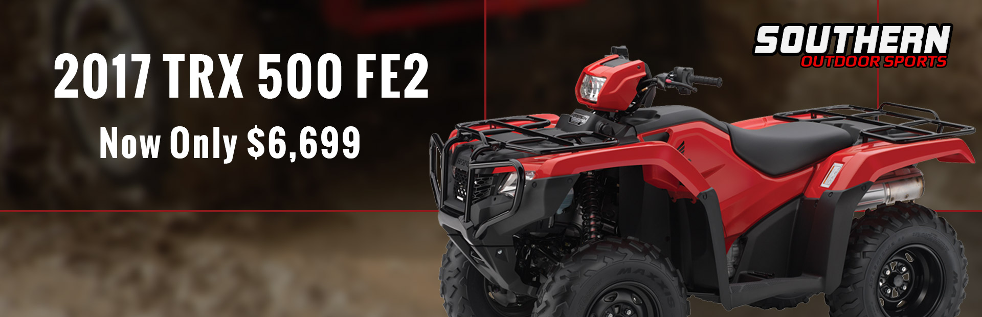 The 2017 Honda TRX 500 FE2 is now only $6,699!