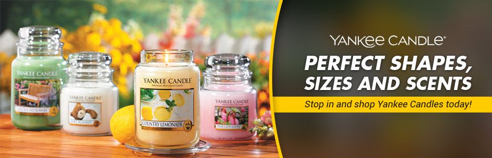 MedPlus Pharmacy Medical Supply carries Yankee Candles in the perfect shapes, sizes, and scents! Stop in today.