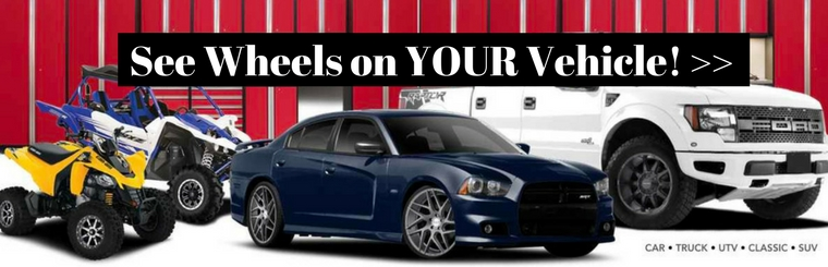 See wheels on your vehicle with our wheel configurator.