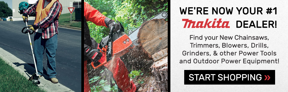 Shop Makita Power Tools, Chainsaws, Trimmers, Drills & More at Tracks USA in MN!