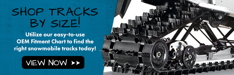 Shop our Tracks Fitment Guide to find replacement snowmobile tracks! Only at Tracks USA - America's Largest Tracks Dealer!