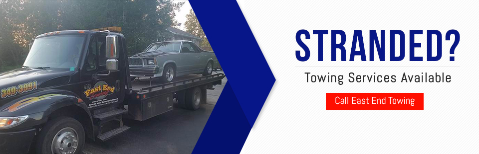 Towing services are available! Call East End Towing at (218) 349-3991.