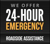 We Offer 24-Hour Emergency Roadside Assistance