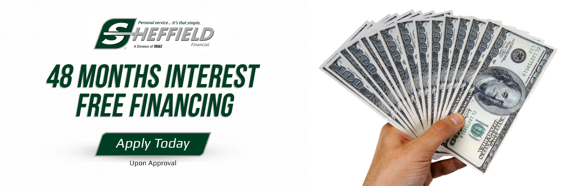 Get 48 months of interest-free financing!