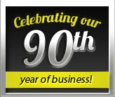 Celebrating our 90th year of business!