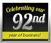 Celebrating our 92nd year of business!