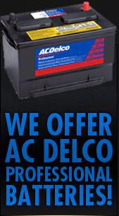 We offer AC Delco Professional Batteries!